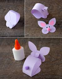 paper bobble head bunny craft for kids
