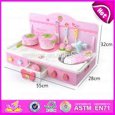 2015 new design kids wooden kitchen furniture toy set promotional