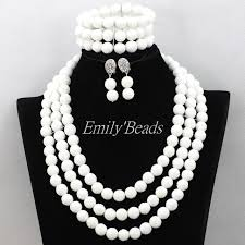 white beads necklace images 2016 pretty african wedding plain white carve coral beads necklace jpg