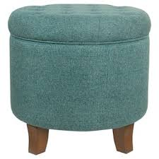 blue ottomans u0026 benches target