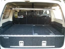 nissan cargo van black 05 patrol black widow drawers fridge slide cargo barrier and