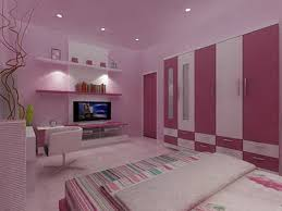 modern home mix purple color and pink color for wall painting