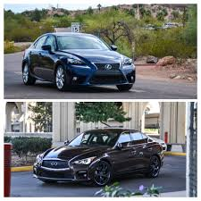 lexus is250 f sport vs infiniti q50 comparison lexus is350 vs infiniti q50 six speed blog