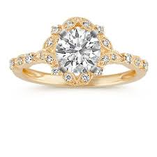 gold halo engagement rings design your own engagement rings shane co