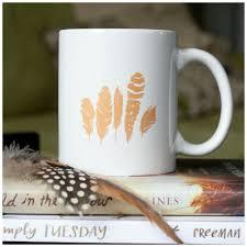 Gold Coffee Mug Feathers Psalm 91 4 Iridescent Gold Coffee Mug