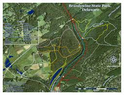 Pennsylvania State Parks Map by Brandywine State Park Hudson Geography