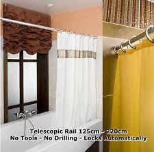 No Drill Curtain Pole Chrome Curtain Rail Ebay