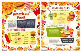 fast food restaurant poster takeaway menu template of fast food