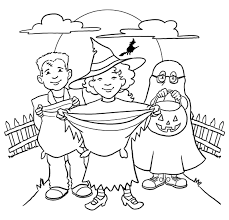 trick or treat coloring pages getcoloringpages com