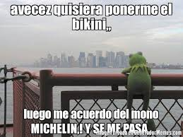 Michelin Memes - avecez quisiera ponerme el bikini luego me acuerdo del mono