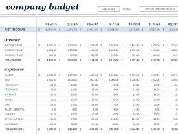 Business Plan Budget Template Excel 18 Period Budget White Office Templates