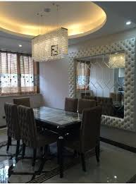 rectangular crystal chandelier dining room ideas with lighting