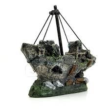aquarium ornament wreck sailing boat sunk ship destroyer fish tank