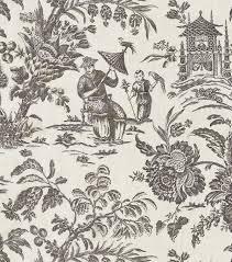 home decor fabrics home decor print fabric williamsburg asian arcadia black orchid