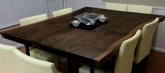Walnut Slab Table Live Edge Black Walnut Slab Table