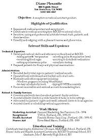 Resume Objective Examples For Receptionist by Job Resume Medical Receptionist Resume Sample Free Resume For