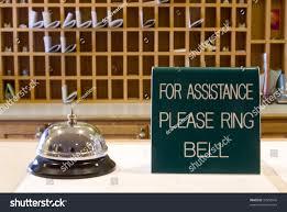 check in desk sign motel check desk bell sign stock photo 94558945 shutterstock