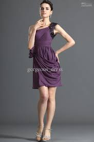 2013 new arrival purple cocktail dresses ruffle sequin chiffon