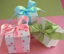 polka dot gift boxes holy communion favor boxes communion favors