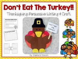 don t eat the turkey thanksgiving writing craft by