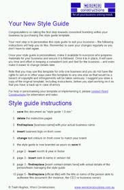 a corporate style guide template