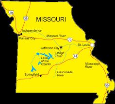 map of missouri mo map missouri state map
