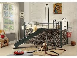 Bunk Bed With Slide And Tent Camouflage Loft Bed W Slide Tent Ladder