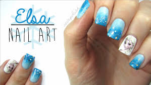elsa frozen nail art youtube