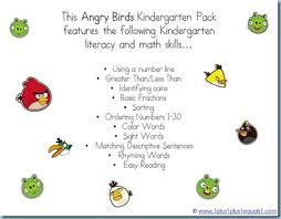 angry birds kindergarten printables 1 1 1 u003d1