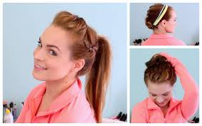 Cute Sporty Hairstyles 3 Workout Ready Hairstyles Diy Headband Youtube