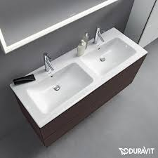 Duravit Double Vanity Duravit Me By Starck Double Vanity Washbasin White With 2 Tap