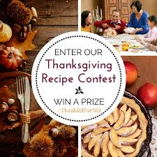 enter our thanksgiving recipe contest