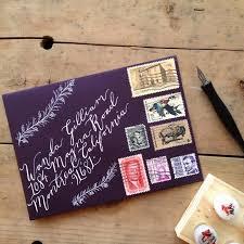 custom calligraphy envelope addressing handwritten wedding