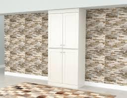 kitchen pantry cabinet oak inval shaker 4 door laminate kitchen pantry cabinet washed oak walmart