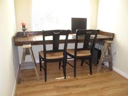 Rustic Wooden Desk Furniture Captivating Sawhorse Desk For Home Furniture Ideas