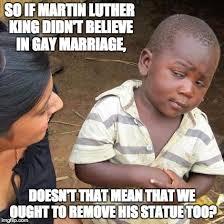 Martin Luther Memes - third world skeptical kid meme imgflip