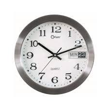 Pendule Murale Originale by Horloge Murale Design Today Inox 25cm Pier Import