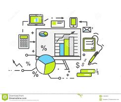 floor planning finance data analysis icon flat design stock vector image 61383052