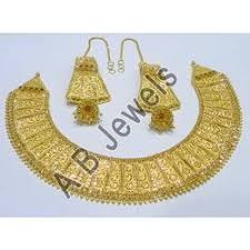 bridal gold set gold necklaces manufacturer from new delhi
