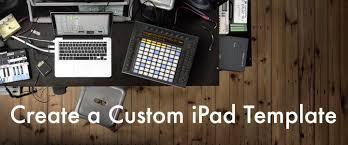 create a custom ipad template to control ableton live