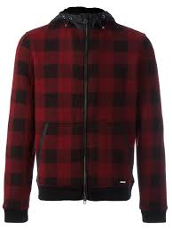 woolrich exposure shirt jacket woolrich hooded checked bomber