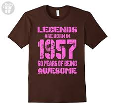 birthday gifts for 60 year olds mens 60 years 60th birthday b day gift legends 1957 t shirt 2xl