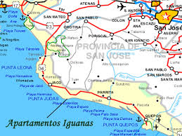 Map Of San Jose Costa Rica by Apartamentos Iguanas Vacation Rentals In Esterillos Oeste Costa