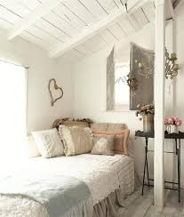 white vaulted ceiling with secondhand furniture ideas for shabby