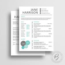 creative resume template with matching cover letter word resume