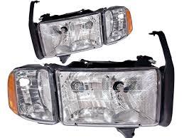 2001 dodge ram headlights 1999 2001 dodge ram sport model headlights set at