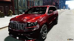 custom jeep red grand cherokee srt8 for gta 4
