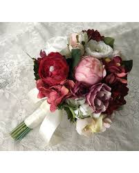 wedding flowers silk sale wedding bouquet bridal bouquet blush burgundy