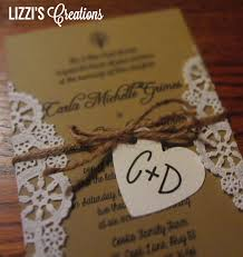 cheap country style wedding invitations