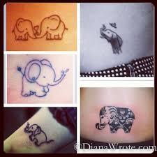 matching elephant tattoos tattoomodels tattoo sister tattoos